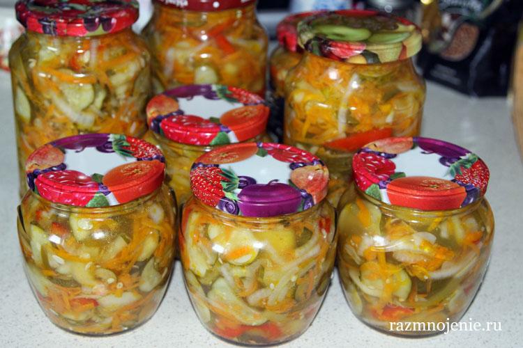 Рецепт салата Ассорти из огурцов на зиму с пошаговыми фотографиями.